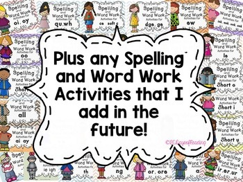 Phonics, Spelling or Word Work Centers for the whole year!