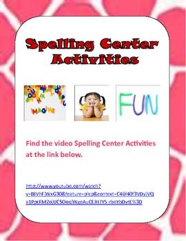 Spelling Center Games Video
