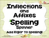 Spelling Center Inflectional Endings Affixes K-5th Common Core Literacy.CCRA.L.2