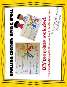 Spelling Center: Spin & Spell