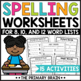 Spelling Center NO PREP Worksheets to Use With Any Word List