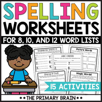Spelling Center Worksheets to Use With Any Word List!