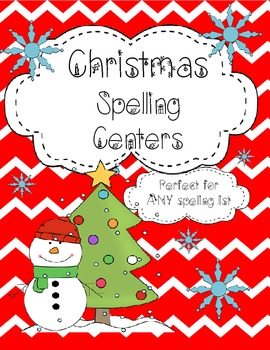 Spelling Centers-Christmas Theme