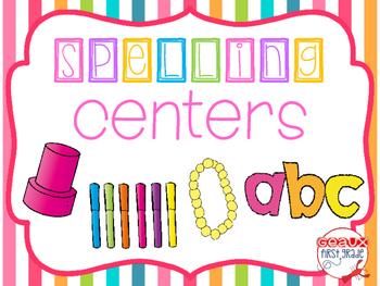 Spelling Centers!!  FREEBIE!