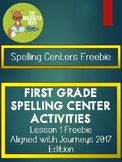Spelling Centers - Grade 1 - Aligned with Journeys 2017: L