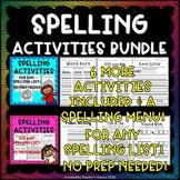Spelling Activities Bundle 2 - Any Spelling List!