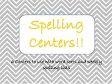 Spelling Centers for Word Sorts