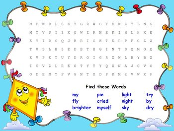 Journeys The Kite Interactive Flipchart Spelling Centers igh, y, ie words