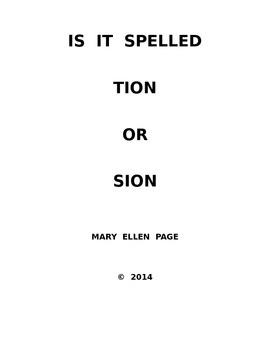 Spelling Challenge TION or SION