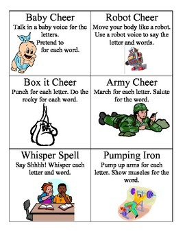 Spelling Chant cards