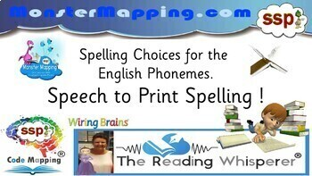 SSP Spelling Mat - 300+ Spelling (Grapheme) Choices, English Speech Sounds