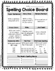 Spelling Choice Board Pack