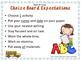 K-1st Spelling Choice Board (September)