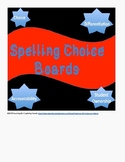Spelling Choice Boards!