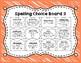 Spelling Choice Boards 4 Week Set
