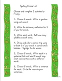 Spelling Choice List