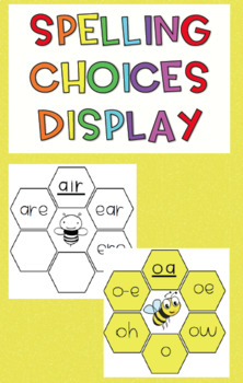 Spelling Choices Display bundle {2 versions, colour and black and white}