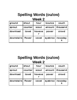 Spelling City:  A Fourth or Fifth Grade Year Long Spelling Packet