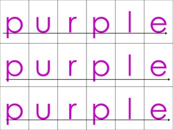 Spelling Color Words (Literacy Center)