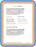 Spelling Color Words & Spelling Number Words Song Bundle