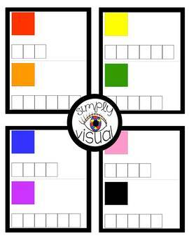 Spelling Color Words and Number Words Clothespin Activities with Task Cards