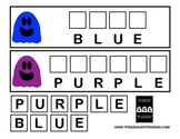 Spelling Color Words with Three Ghost Friends