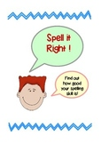 Spelling & Coloring Activity Sheet
