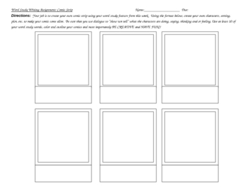Spelling Comic Strip Assignment
