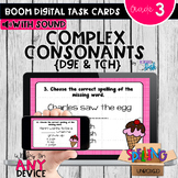 Spelling Complex Consonants TCH & DGE Trigraphs Boom Cards