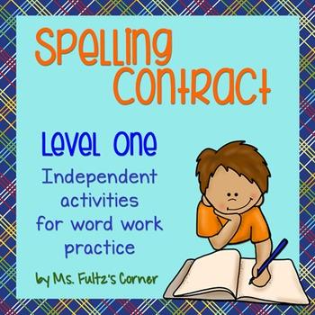 Spelling Contract 1:  Easier