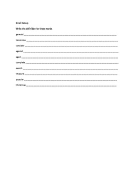 Spelling Contract 10