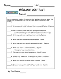 Spelling Contract - 1C