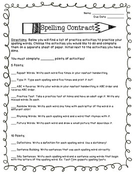 Spelling Contract