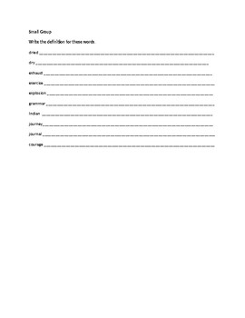 Spelling Contract 6
