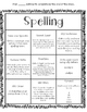 Spelling Contract - Choice Board