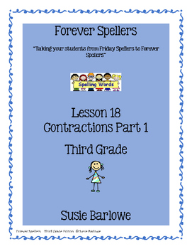 Spelling - Contractions Part 1 - 3rd Grade