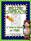 Spelling Contracts and Task Cards- 112 Options!