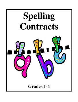 Spelling Contracts, Activities and Worksheets