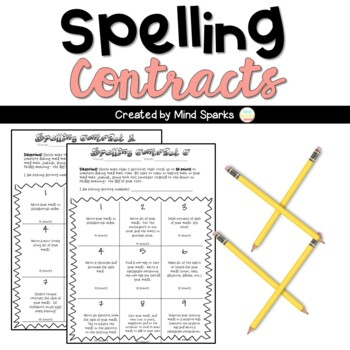 Spelling Contracts--Students Choose