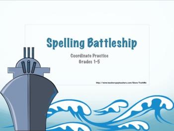 Spelling Coordinate Battleship Game