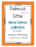 Rebecca Sitton Word Search Collection Level 2 - Updated!  Differentiated!