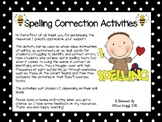 Spelling Correction Activities for Years 1-2