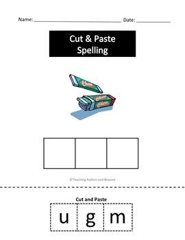 Spelling Cut & Paste