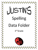 Spelling Data Folder Cover Sheet *Editable*