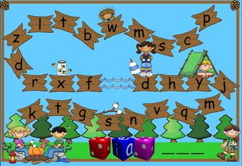 Spelling & Decoding Camp Out Game
