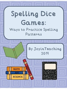 Spelling Dice Games:  Ways to Practice Spelling