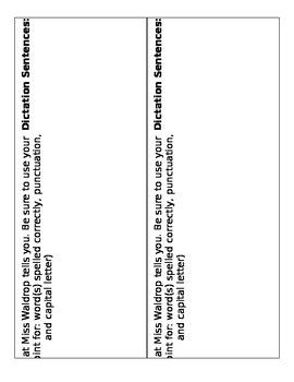 Spelling & Dictation Paper