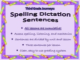 Spelling Dictation Sentences: Third Grade Journeys