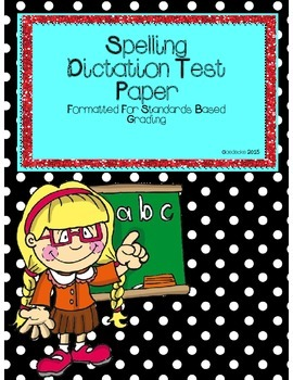 Spelling Dictation Test Paper (Editable)