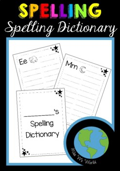 Spelling Dictionary (2 per page)